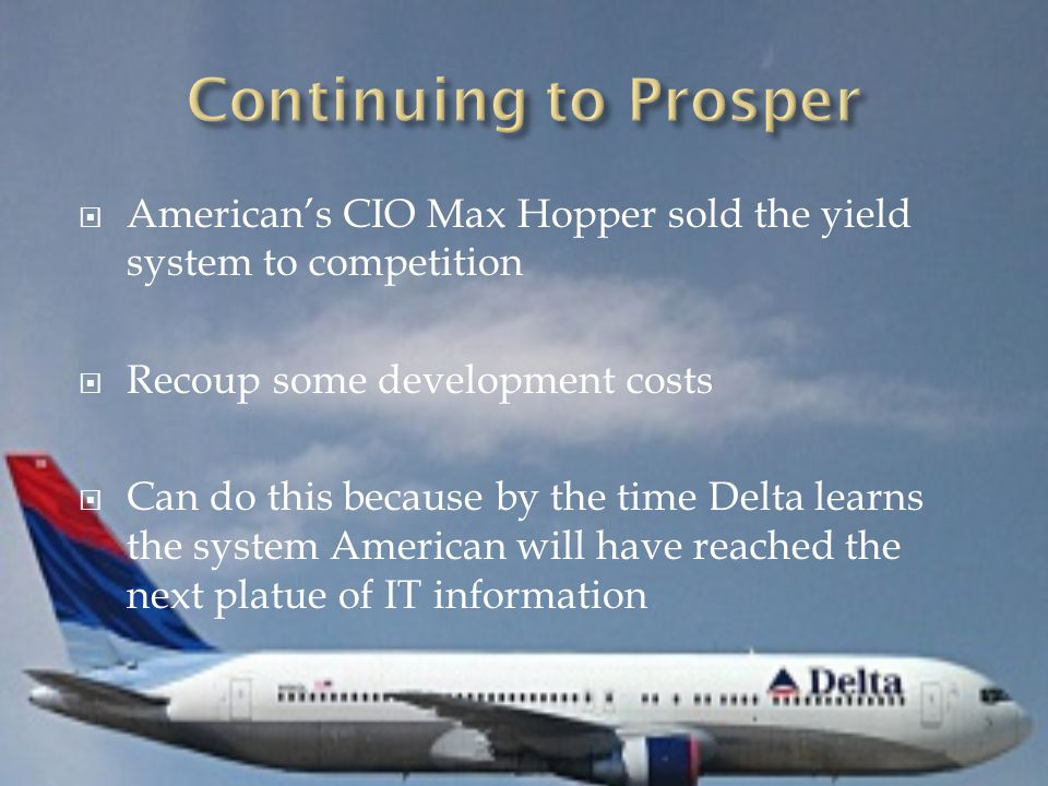  1997 CIO Charlie Feld created Delta's gate and boarding application  Delta still remained relectant to spend large amounts on IT