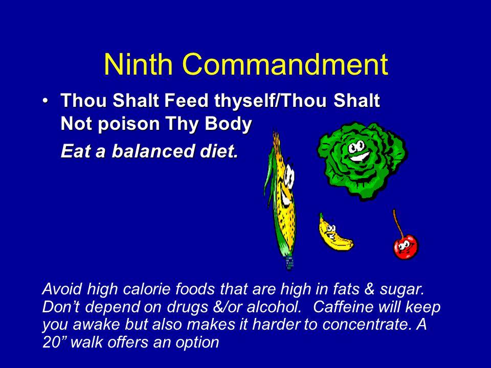 Eighth Commandment Thou Shalt be Aware of Thyself.