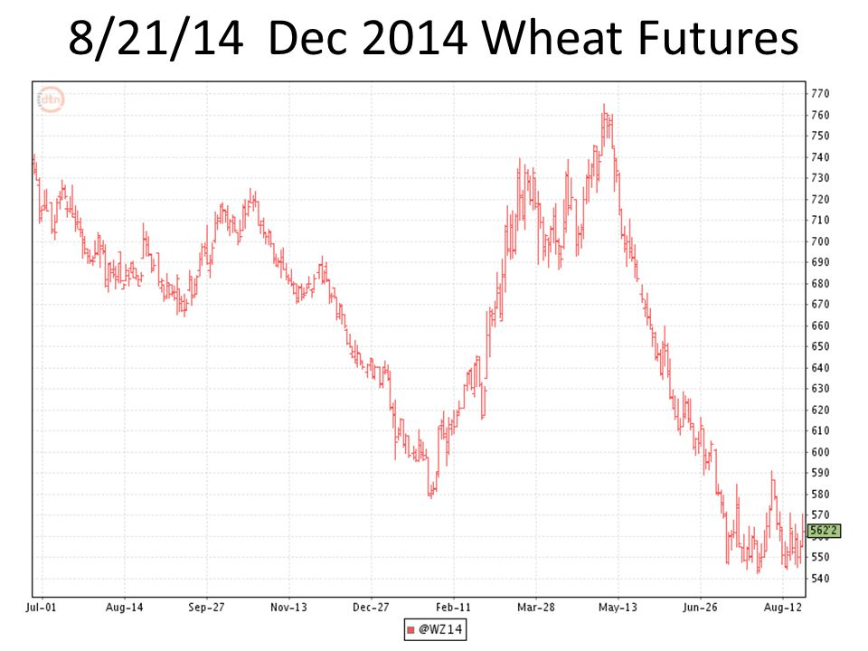 8/21/14 Dec 2014 Wheat Futures