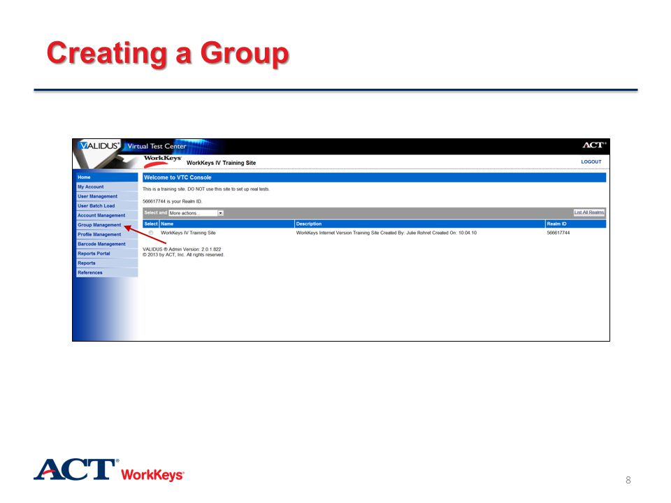 Groups and Batch Loading: Authorizing a Group 59