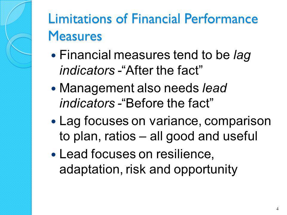 Lead indicators as value drivers Many non-financial indicators can serve as lead indicators in certain settings.
