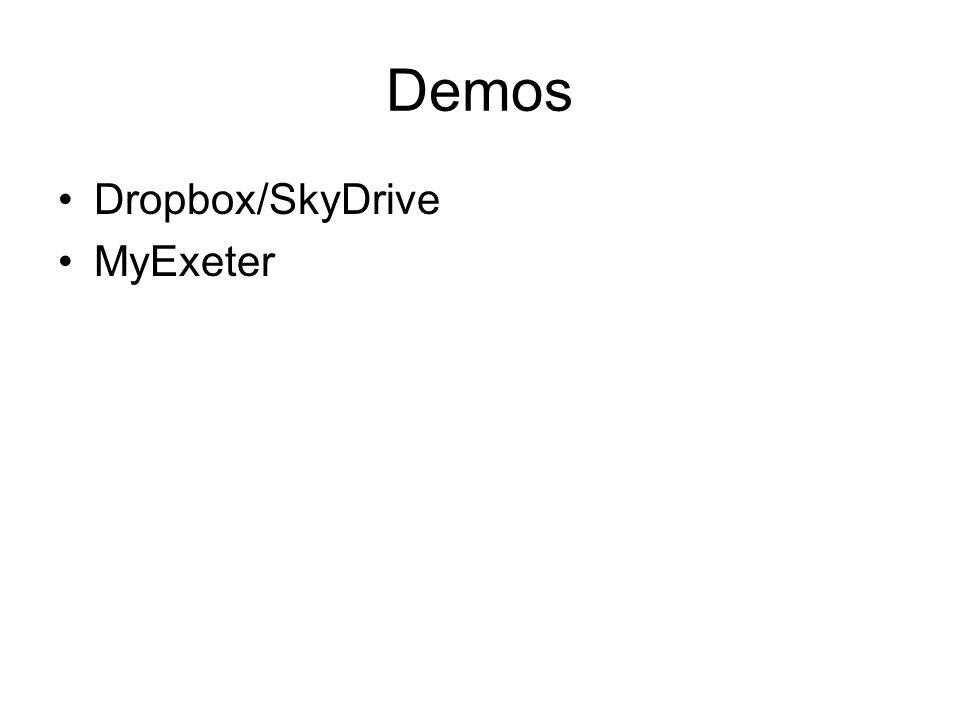 Demos Dropbox/SkyDrive MyExeter