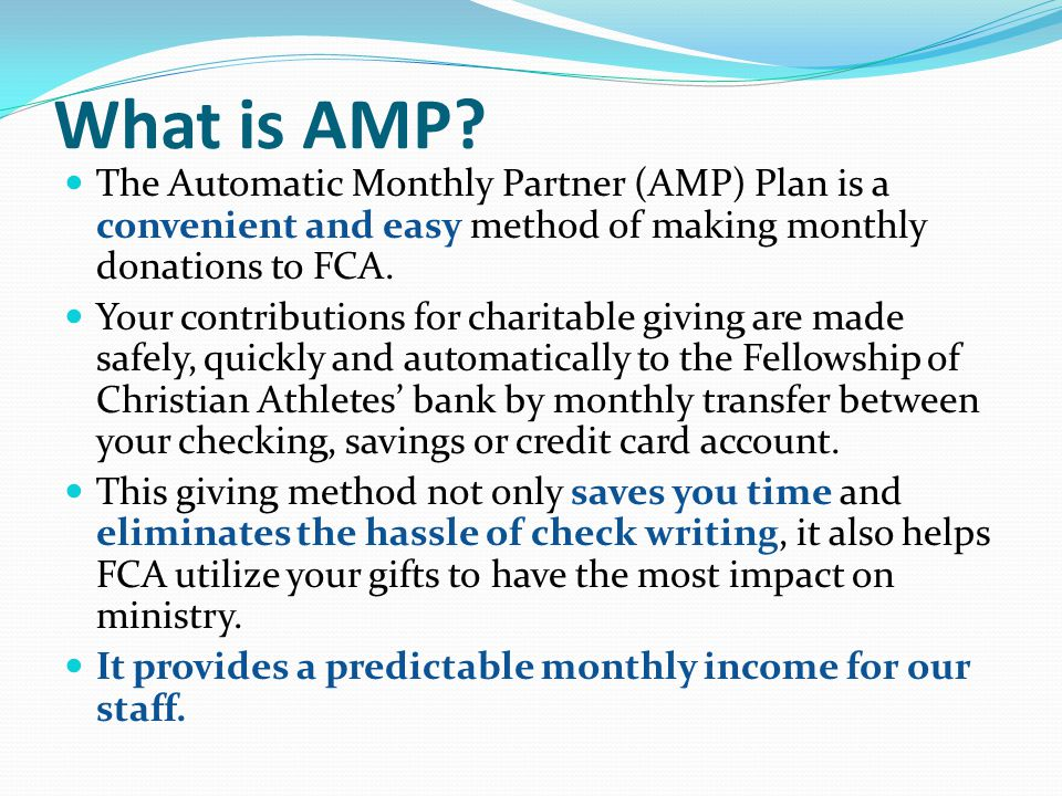 What is AMP.