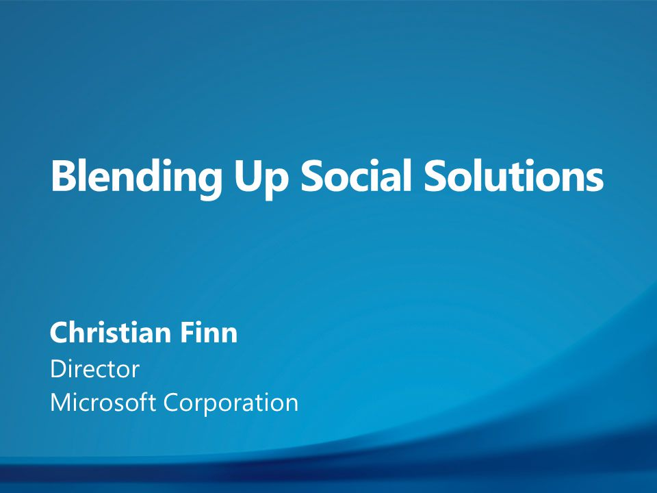Christian Finn Director Microsoft Corporation