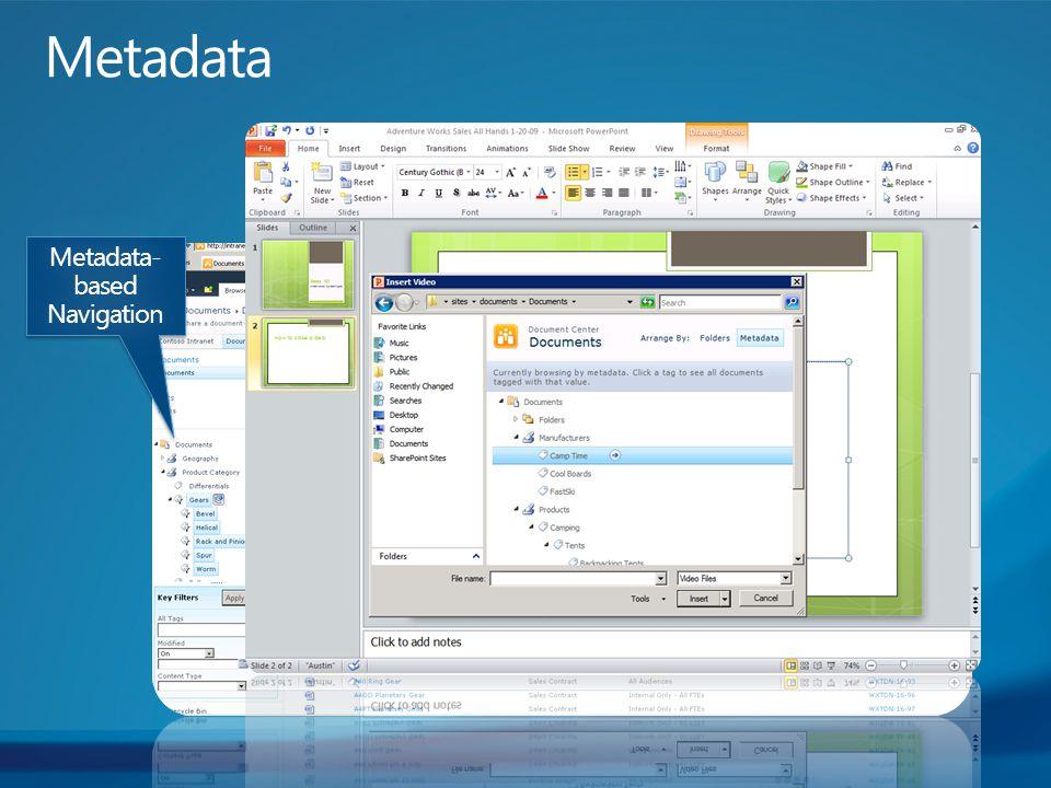 Metadata- based Navigation