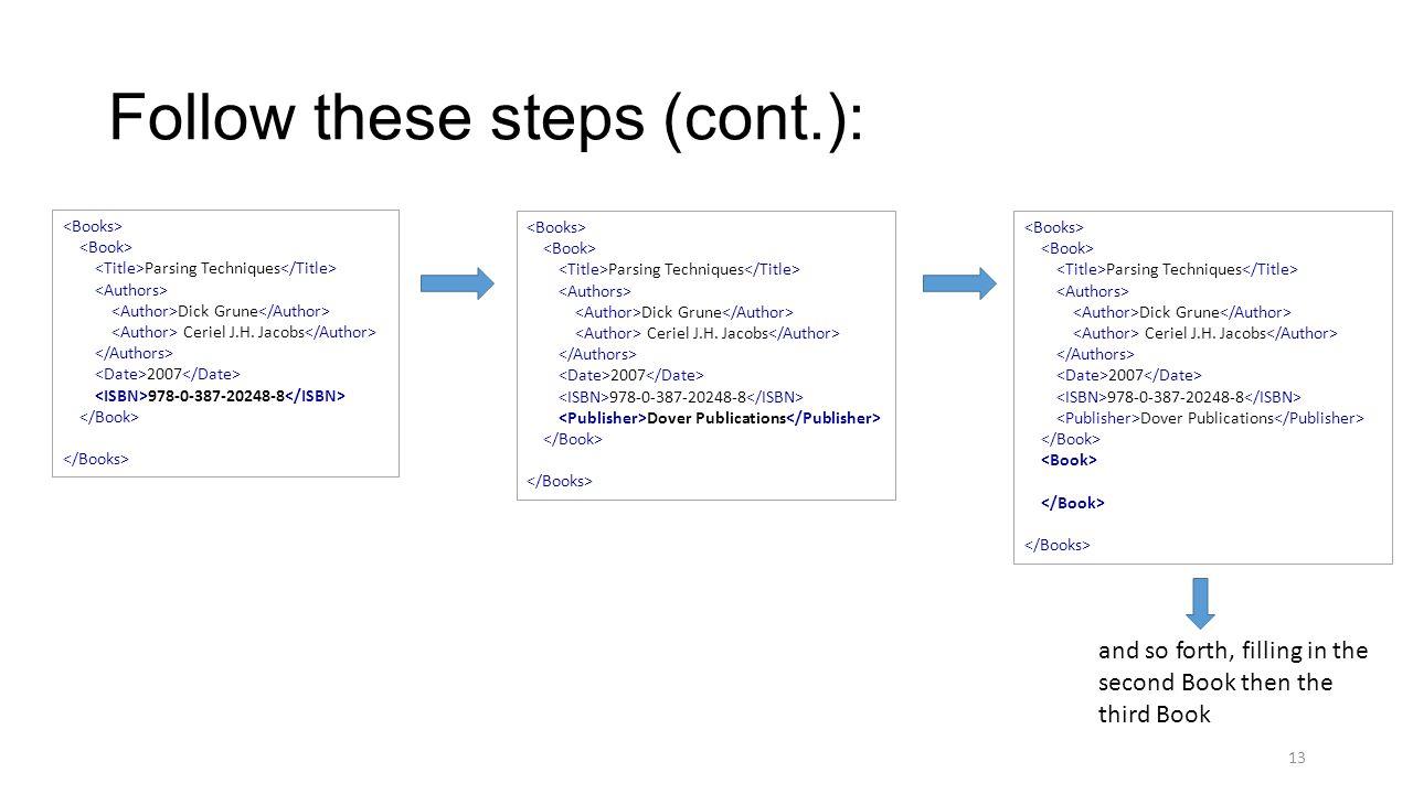 Follow these steps (cont.): Parsing Techniques Dick Grune Ceriel J.H.