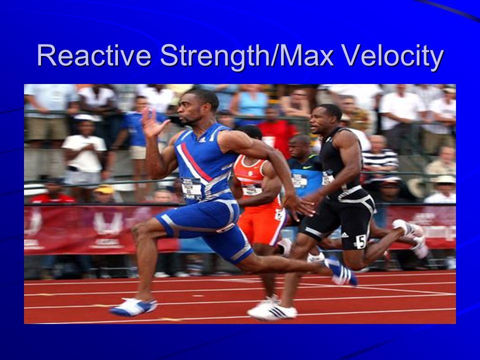 Reactive Strength/Max Velocity