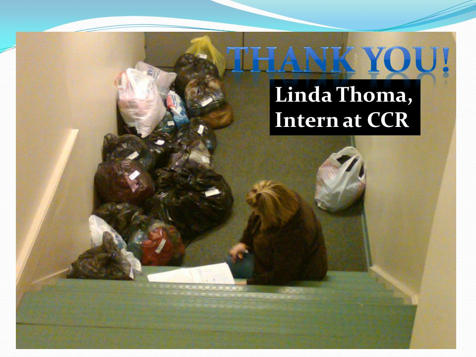 Linda Thoma, Intern at CCR