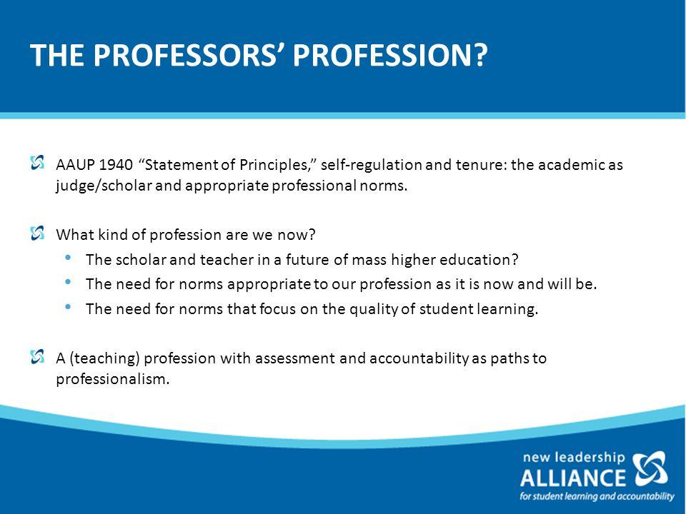 THE PROFESSORS' PROFESSION.