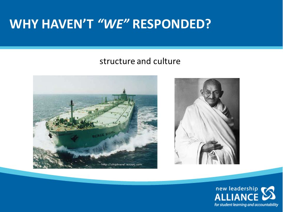 WHY HAVEN'T WE RESPONDED structure and culture