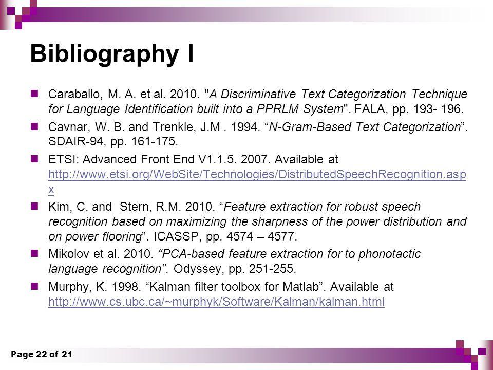 Bibliography I Caraballo, M.A. et al. 2010.