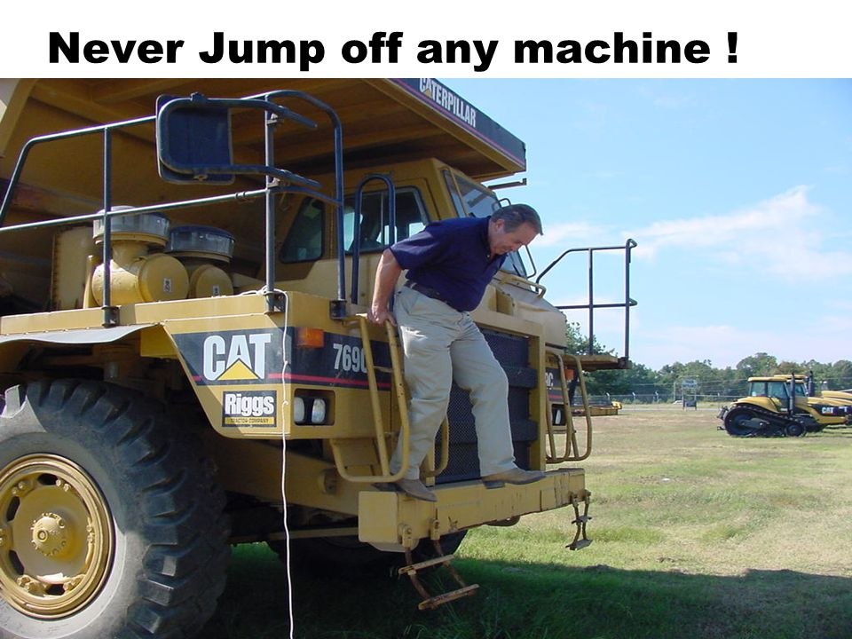 Never Jump off any machine !