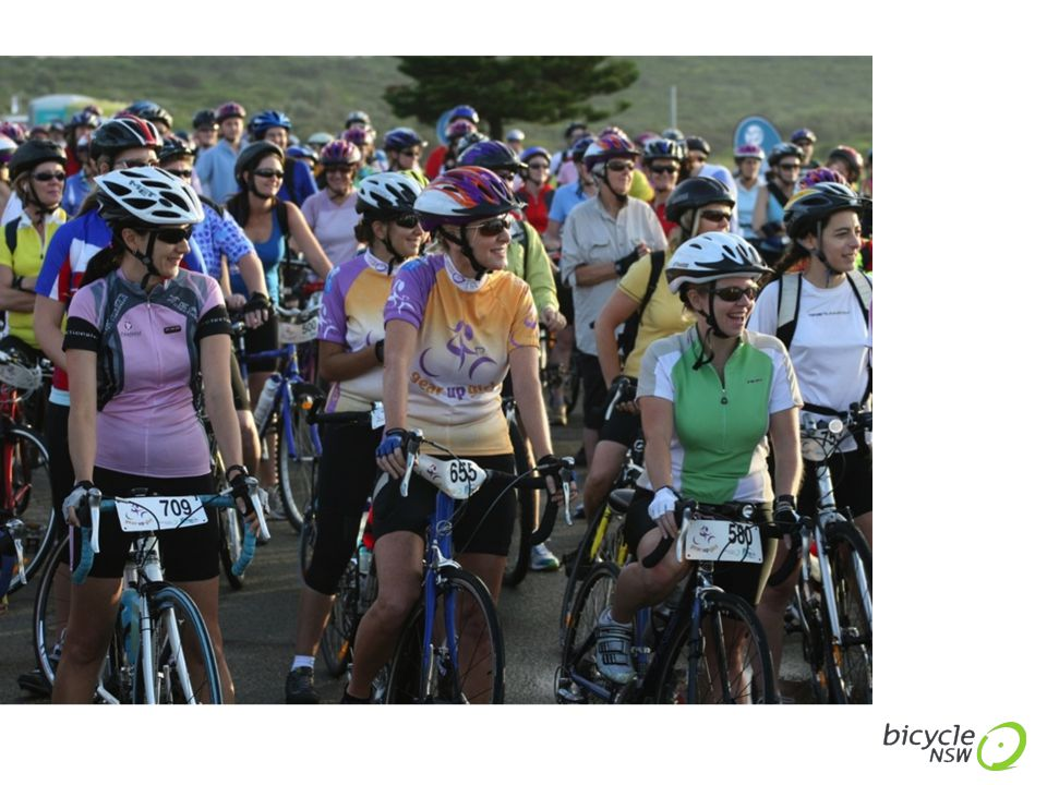 7% of Australian women use a bicycle for transport. Heart Foundation Women and Cycling Survey 2013
