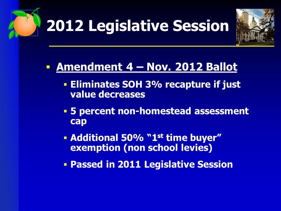 2012 Legislative Session  Amendment 4 – Nov.