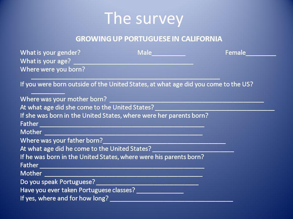 Do your parents speak Portuguese.