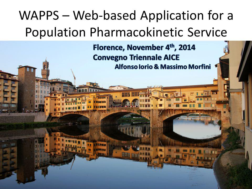 WAPPS – Web-based Application for a Population Pharmacokinetic Service