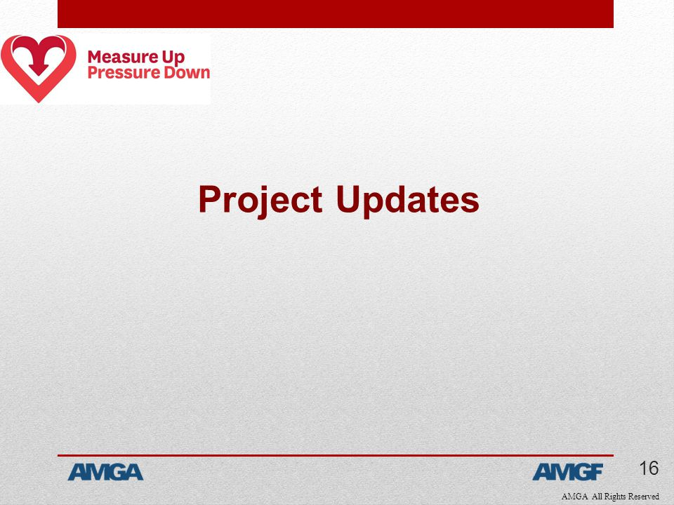 AMGA All Rights Reserved Project Updates 16