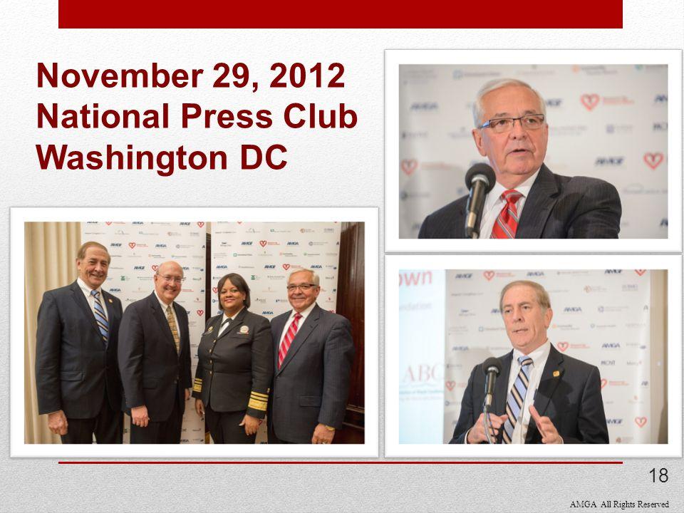 AMGA All Rights Reserved November 29, 2012 National Press Club Washington DC 18
