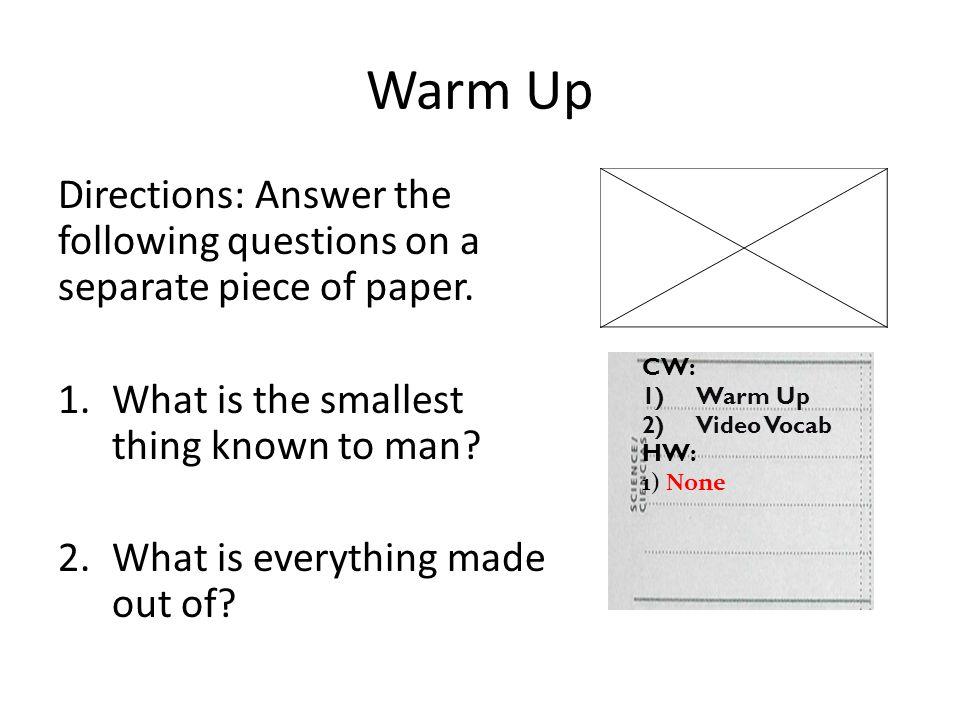 CW: 1)Intro atomic theory Rap HW: 1) None Warm Up Draw an atom of Boron Atomic #5 Atomic Mass = 10.81