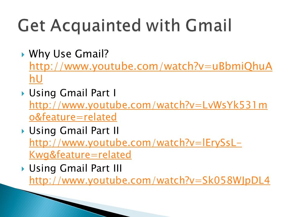  Changing your email address and notifying those on your other email accounts is easy with Gmail  To watch a tutorial on the steps to doing so, visit http://www.teachparentstech.org/care- package/2c7c12c1-786c-463a-bd88- ce16cd5bb4a0/HJ4XUsxqvG8 http://www.teachparentstech.org/care- package/2c7c12c1-786c-463a-bd88- ce16cd5bb4a0/HJ4XUsxqvG8  Notify the VASN President of your address change at dzellervasn@gmail.com