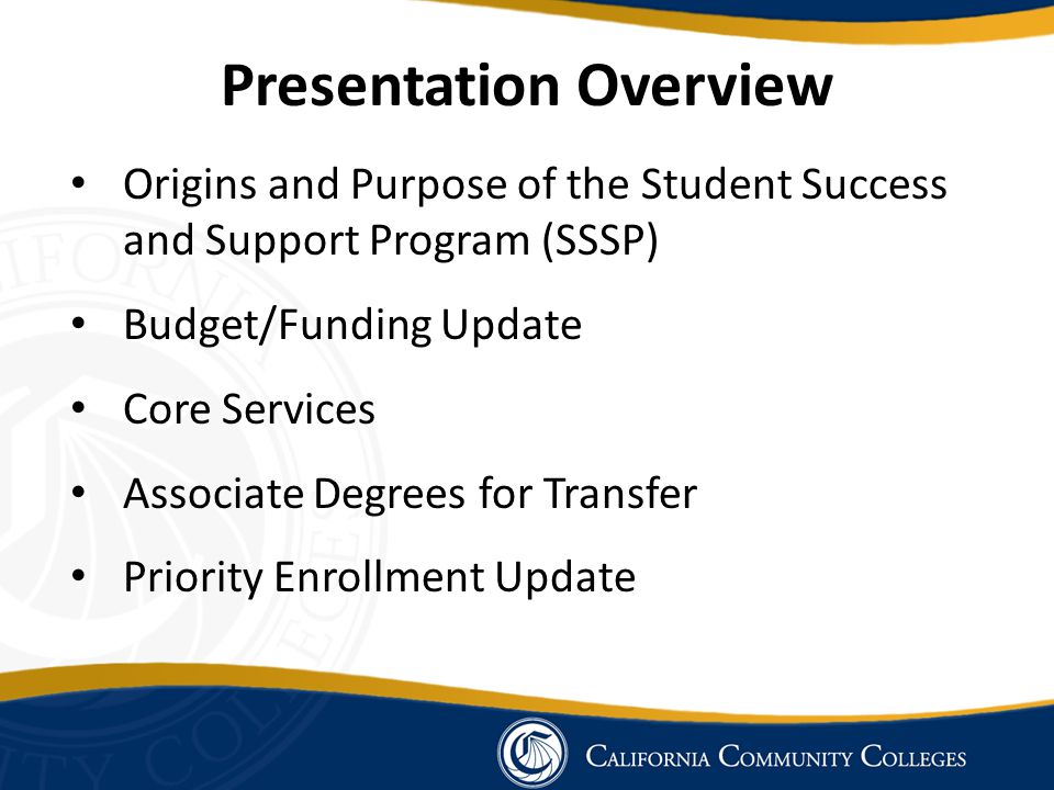 Student Success and Support Program Core Services Student Follow-up: Required for at-risk students Enrolled in Basic Skills courses Have not identified an education goal and course of study Are on Academic or Progress Probation – at risk of losing enrollment priority and BOG Fee Waiver