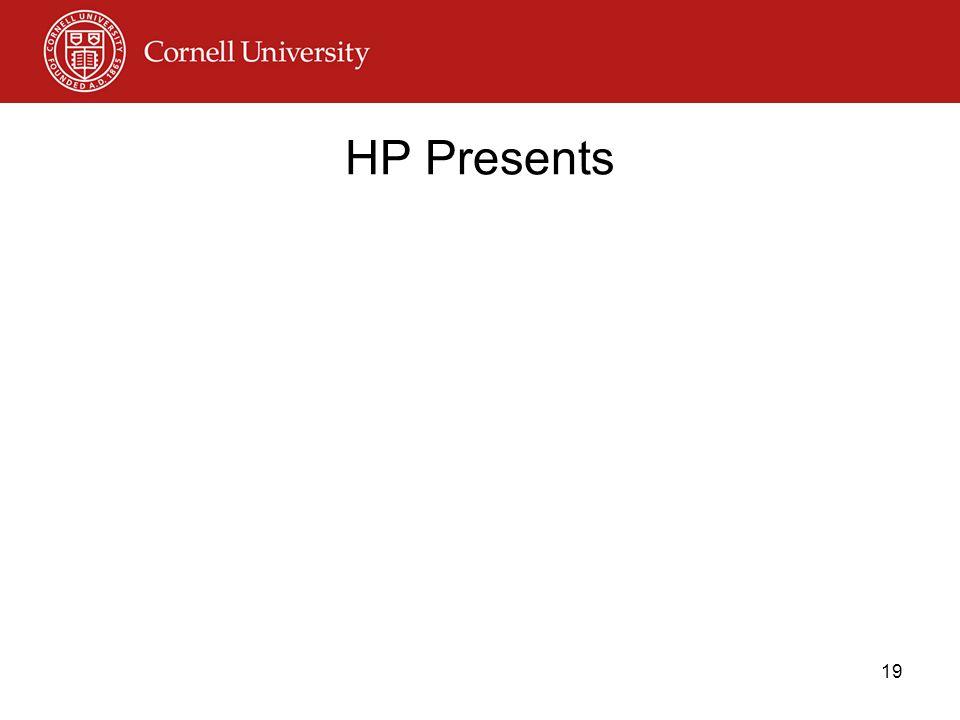 HP Presents 19