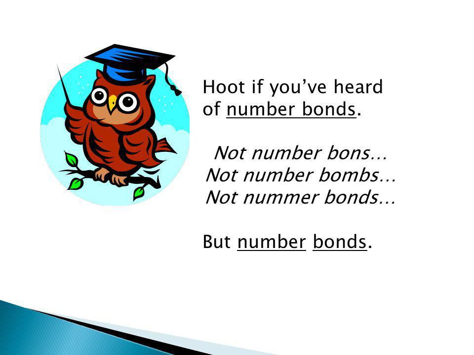 Hoot if you've heard of number bonds.