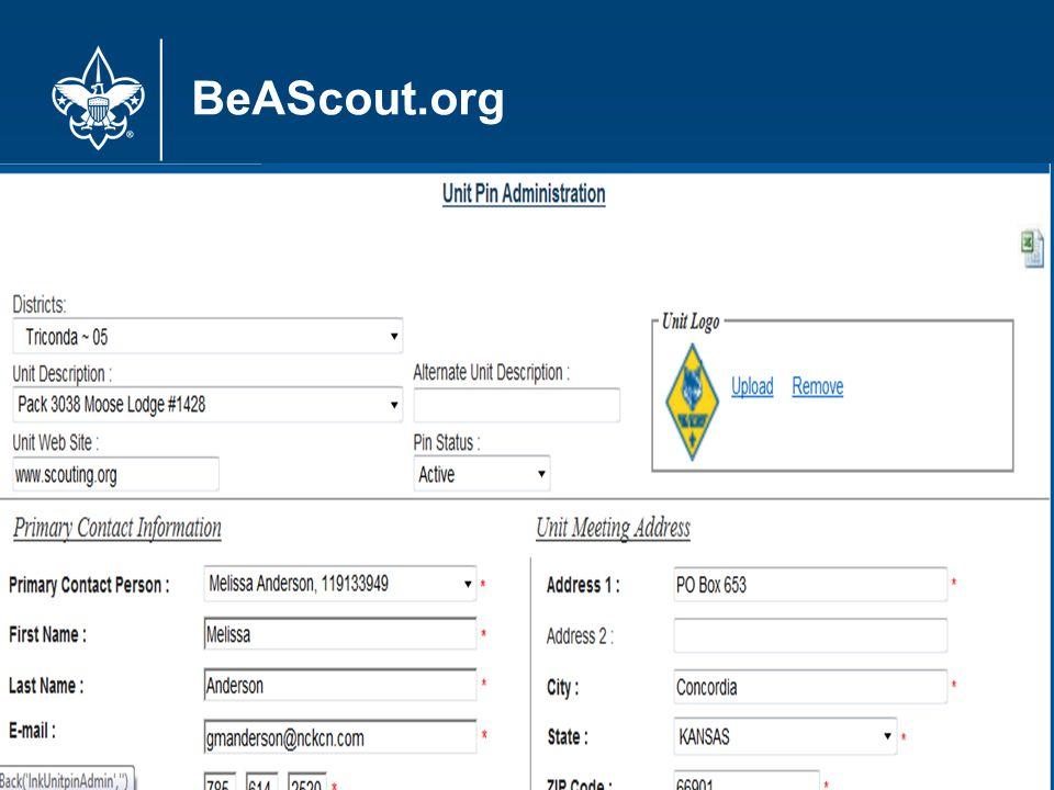 BeAScout.org 17