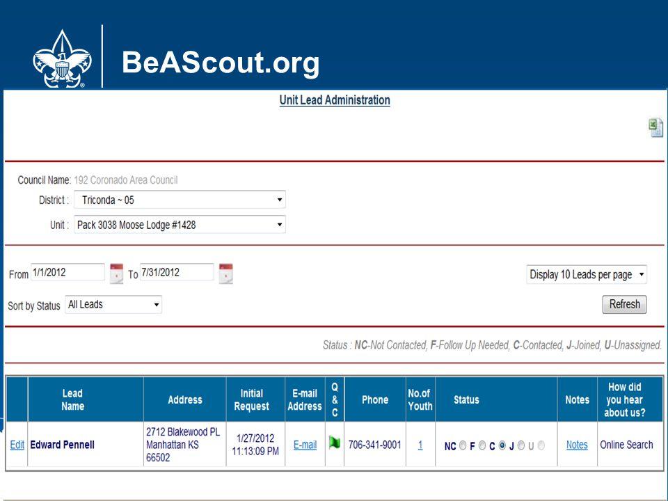 BeAScout.org 18