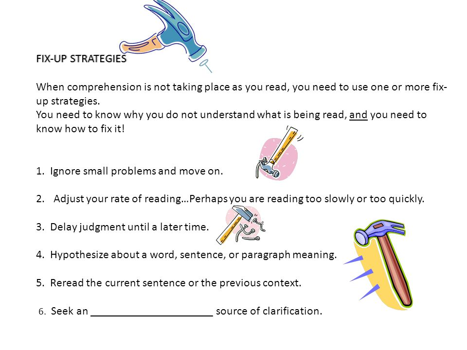 VIP Strategy ( Very Important Points ) This is a strategy to be done DURING READING- It will help you clarify confusing information or words- It will also help you identify important information.