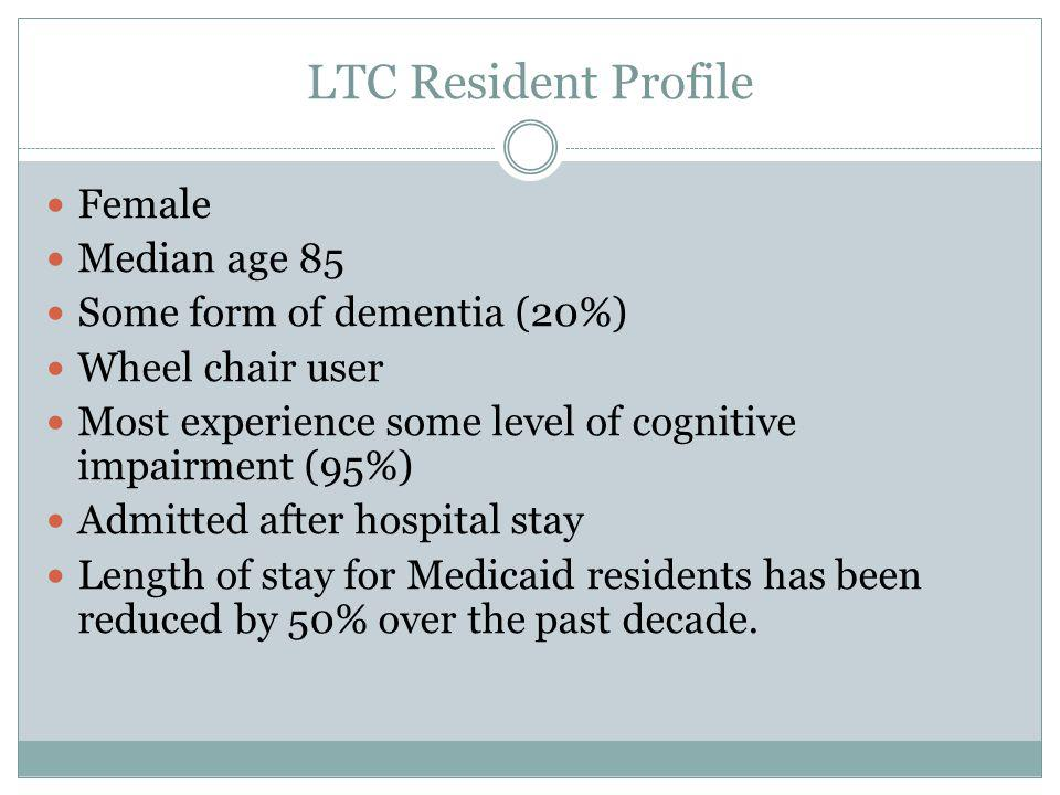 Post Acute Care Patient Profile Over age 75 (70%) Broad range of clinical conditions including pneumonia, congestive heart failure, stroke, joint replacement, kidney and urinary tract infections, septicemia and others 40% discharged within 100 days of admission SNF effectively managing complex post acute care patient population