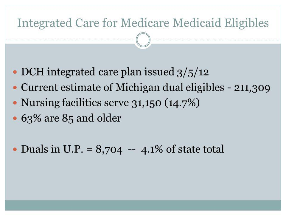 Integrated Care Organization (ICO) State integrated care plan designates ICO to manage physical health Skilled nursing facilities Home and community-based services Home help program