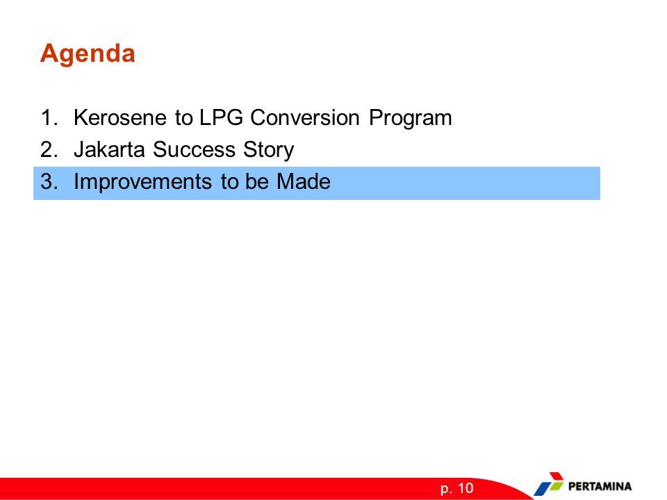 p. 10 Agenda 1.Kerosene to LPG Conversion Program 2.Jakarta Success Story 3.Improvements to be Made