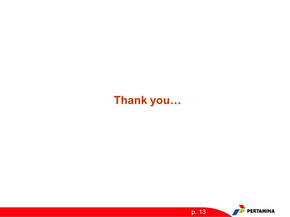 p. 13 Thank you…