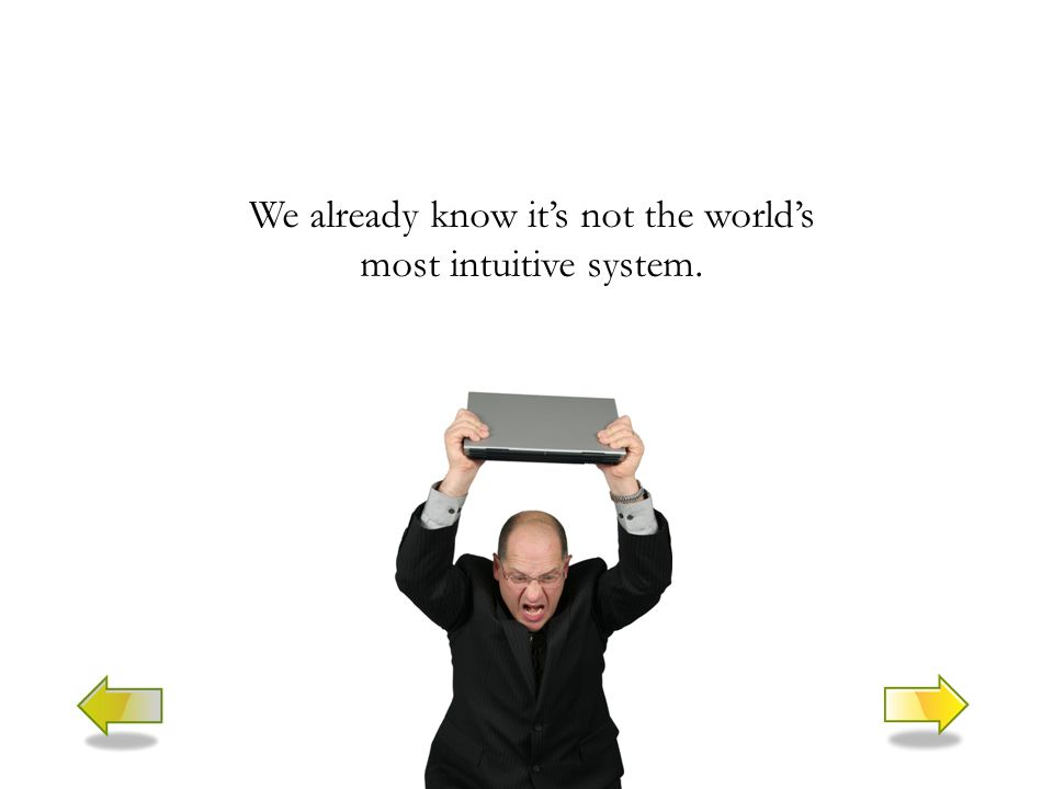 We already know it's not the world's most intuitive system.