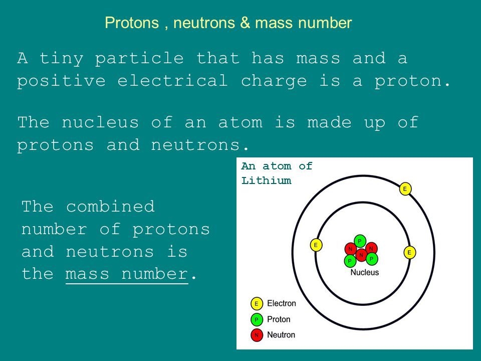 Atoms Atoms are made up of protons, neutrons, and electrons.
