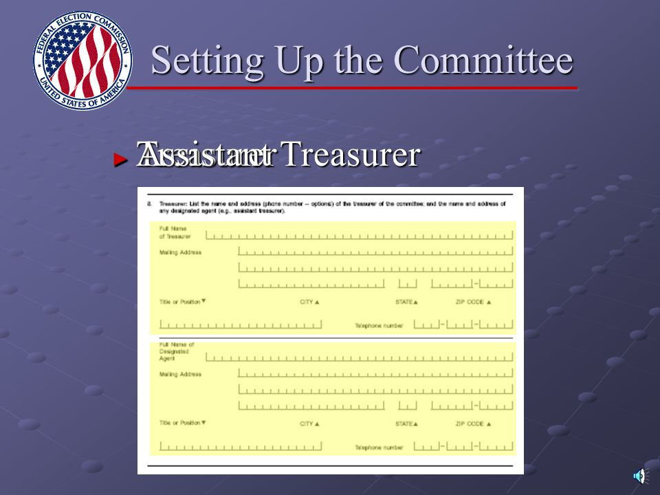 Setting Up the Committee ► Custodian of Records