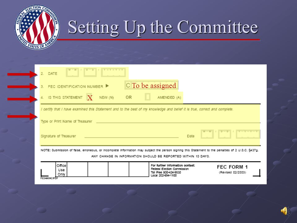 A Production of the FEC Information Division