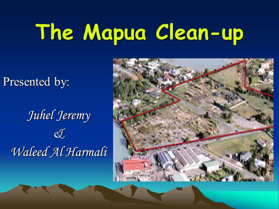 The Mapua Clean-up Presented by: Juhel Jeremy & Waleed Al Harmali
