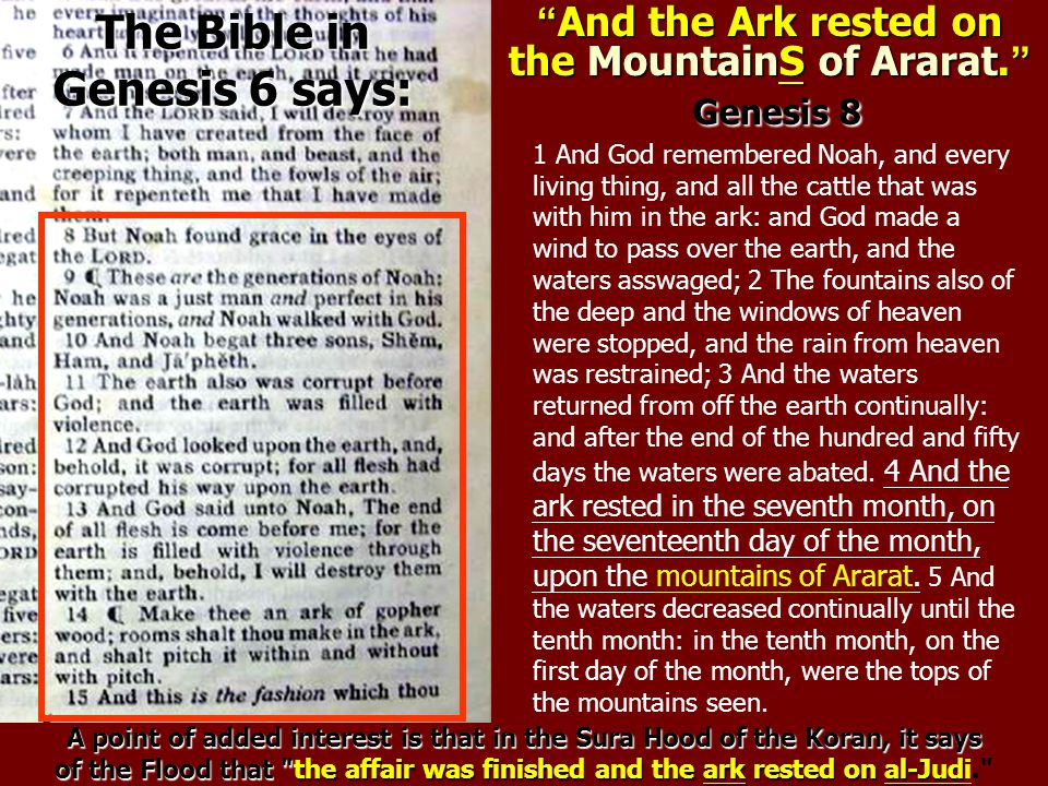 1 And God remembered Noah, and every living thing, and all the cattle that was with him in the ark: and God made a wind to pass over the earth, and th
