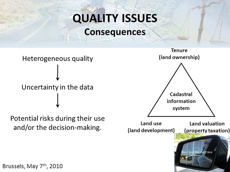 Uncertainty in the data Heterogeneous quality Potential risks during their use and/or the decision-making.