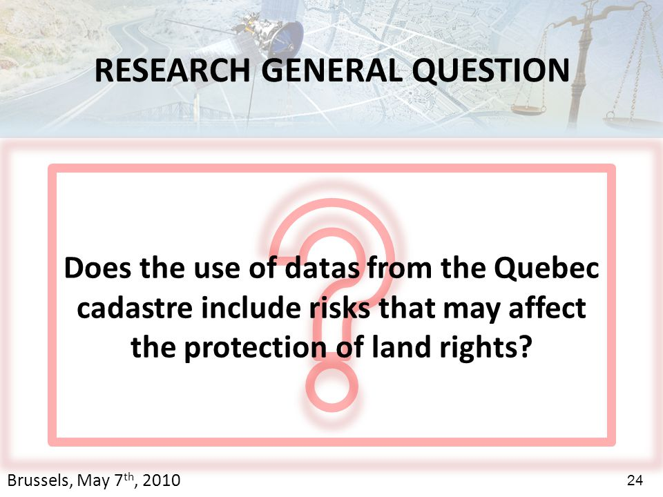 Does the use of datas from the Quebec cadastre include risks that may affect the protection of land rights.