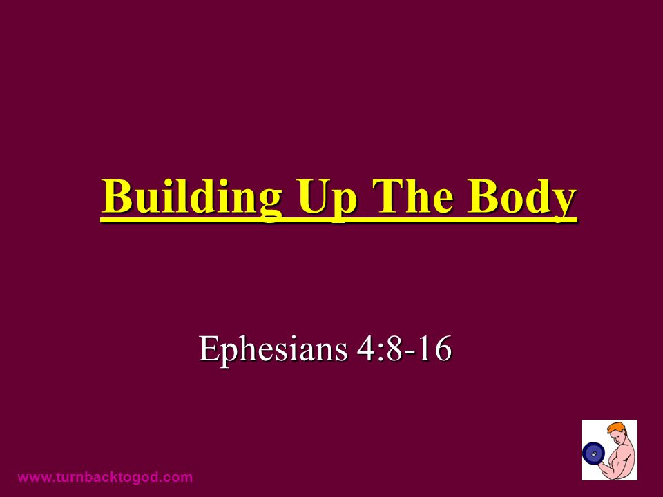 Building Up The Body Ephesians 4:8-16 www.turnbacktogod.com