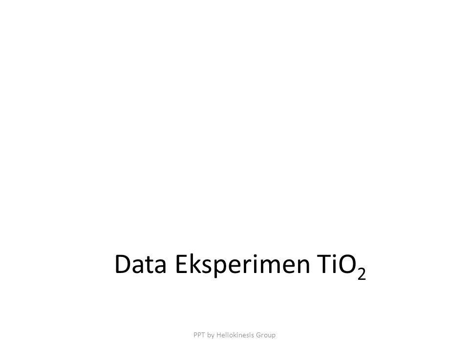 Data Eksperimen TiO 2 PPT by Heliokinesis Group