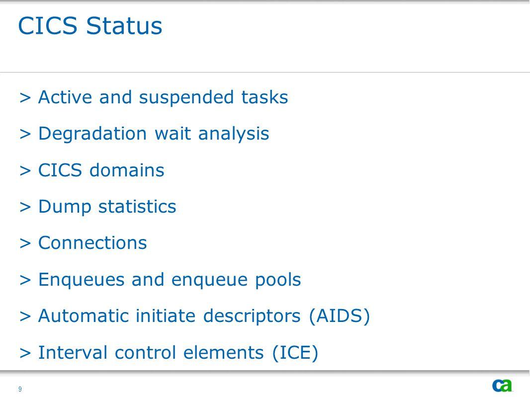 10 CICS Region Status