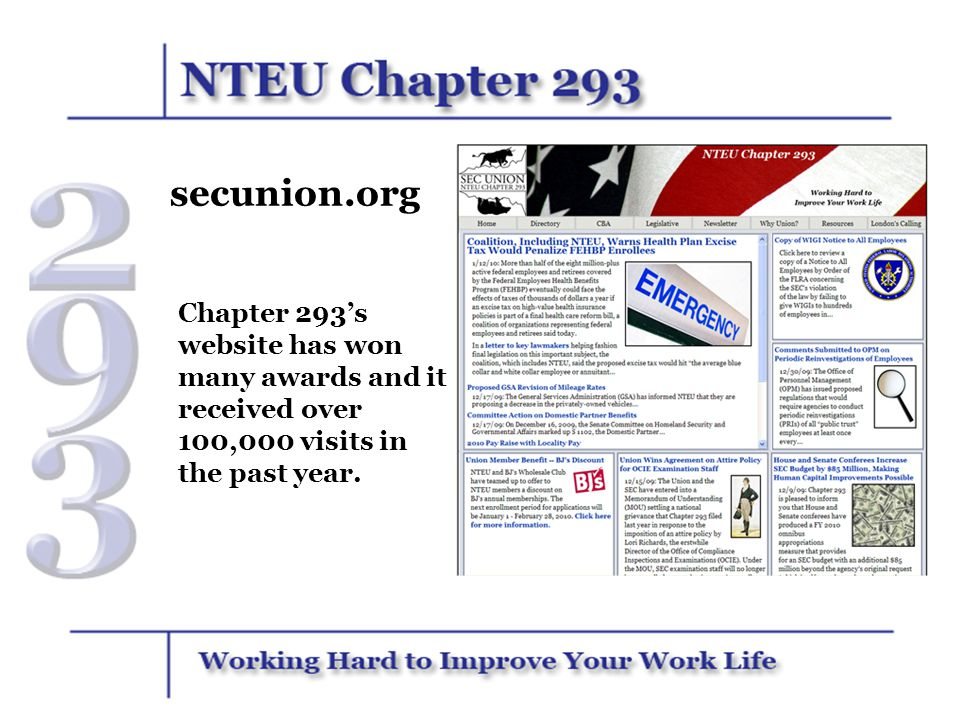 A Strong Majority of SEC Employees are Union Members All non-management employees of the SEC are members of the bargaining unit.