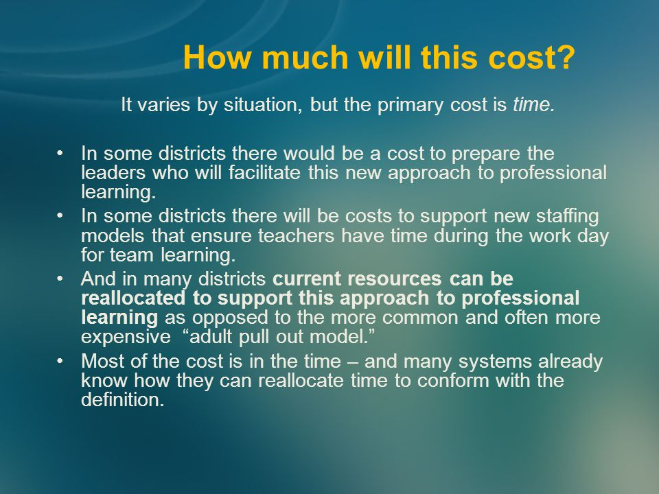 It varies by situation, but the primary cost is time.