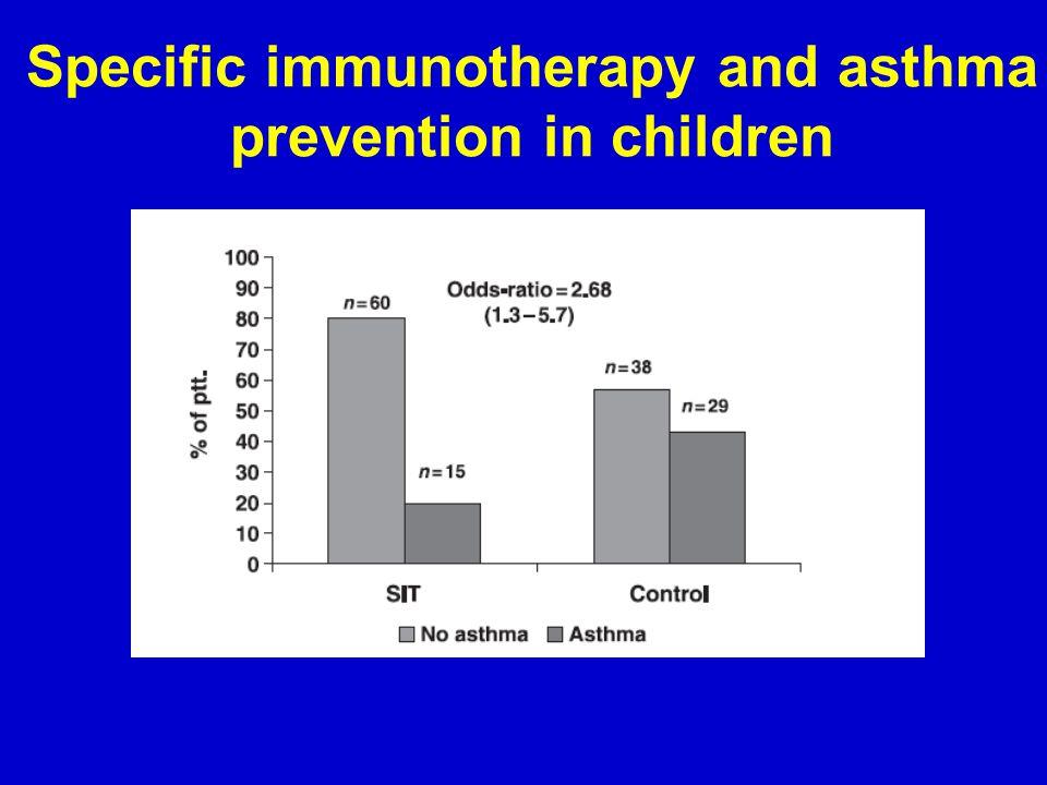 Specific immunotherapy and asthma prevention in children Niggemann et al. Allergie 2006, 61, 855