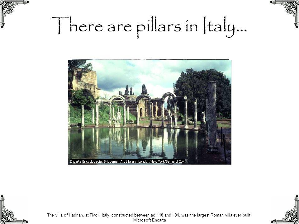 There are pillars in England … Stonehenge, a circular arrangement of large stones near Salisbury, England, Microsoft ® Encarta ®