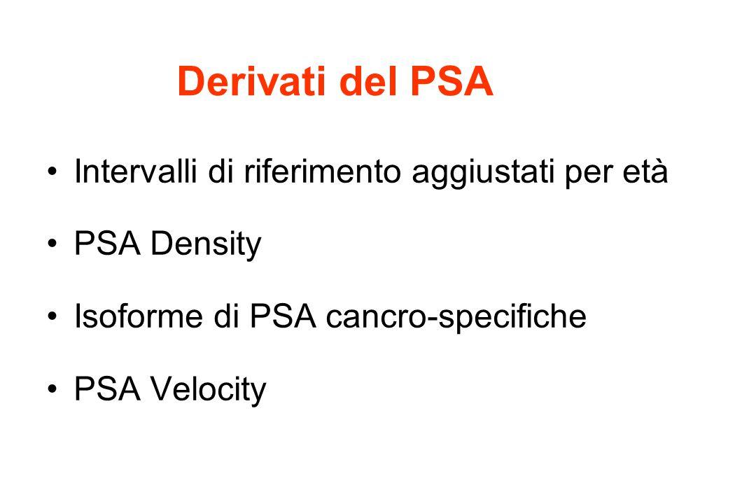 Intervalli di riferimento aggiustati per età PSA Density Isoforme di PSA cancro-specifiche PSA Velocity
